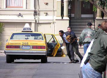 Fugindo do taxista