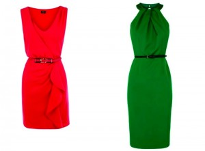 vestidos com cores vibrantes