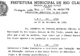 Rio Claro deveria ter uma Fundação Municipal da Educação?
