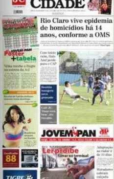 jornal cidade de rio claro, 26 de janeiro 2014