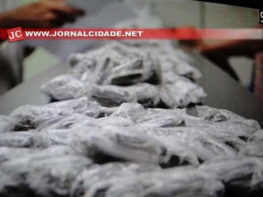 A droga foi localizada em uma residência situada na Avenida M-49, Jardim São José