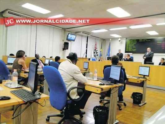 Vereadores em sessão na Câmara Municipal (Foto: Arquivo JC)