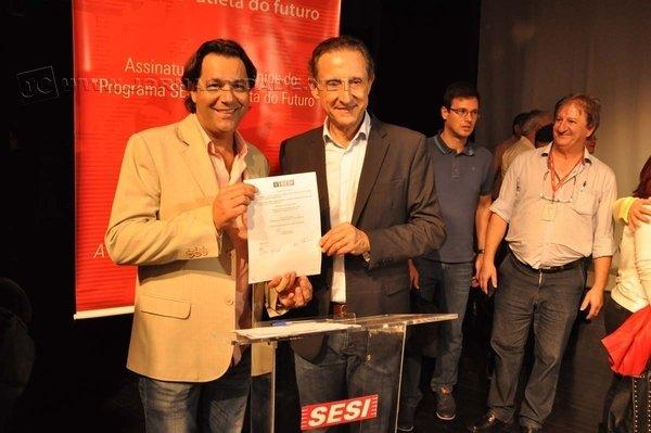 Solenidade em RC contou com a presença de Paulo Skaf, presidente do Sesi-SP e da Federação das Indústrias do Estado