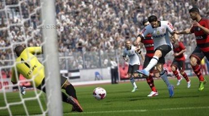 Na versão do ano passado, o Fifa 14 conta com 21 clubes brasileiros e o Brasileirão