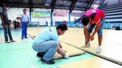 Além do piso flutuante, o ginásio também terá duas novas tabelas e placar eletrônico, totalizando o montante investido pelo Ministério do Esporte, com parceria da CBB
