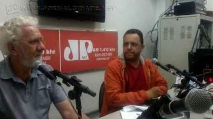 O Secretário Municipal de Cultura Sérgio Desiderá e Ivo Reseck, Diretor de Patrimônio Histórico e Cultural