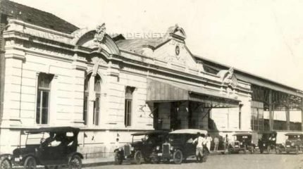 Na imagem, Estação Ferroviária de Rio Claro no período áureo da ferrovia paulista, na década de 20 (Foto: Arquivo Rio Claro)
