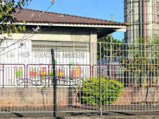 A creche Prof. Sebastião Ambrósio foi uma das unidades atingidas pela contaminação