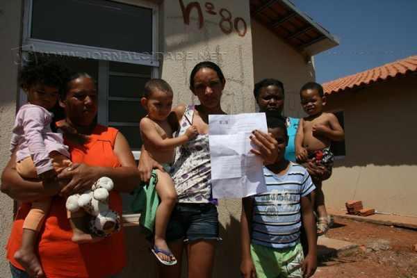 Famílias ocupantes das moradias no conjunto habitacional