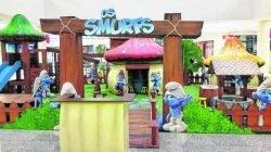 As crianças vão brincar, pintar e construir engenhocas acompanhadas pelos Smurfs