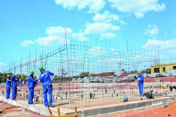 Construção de conjunto habitacional