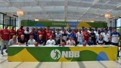 Sétima edição do nacional foi aberta com um evento na sede do Club Atlhetico Paulistano, em São Paulo (Imagem: Reprodução/NBB)