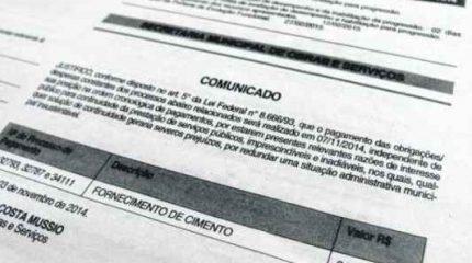 As declarações de quebra da ordem cronológica correspondem a R$ 2.995.581,37 desde o dia 29 de agosto