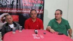 Segundo o diretor de futebol e um dos parceiros, Homero Santarelli (à esquerda), parceria está desgastada e que o melhor é cada parte seguir seu caminho