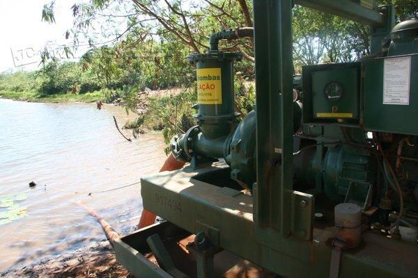 Ponto de captação de água para tratamento na lagoa de São Bento, que abastece a cidade de Santa Gertrudes (foto arquivo)