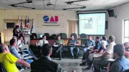 Integrantes do grupo de trabalho da FIA se reuniram nessa quarta-feira na sede da OAB-RC