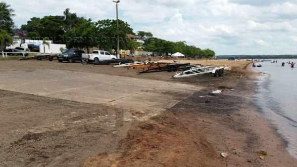Rampa de barcos da Represa Broa já está preparada para receber o piso intertravado de blocos de concreto