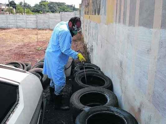 Agente da área de Saúde realiza vistoria em imóvel. Moradores devem eliminar criadouros do mosquito de suas residências