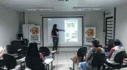 Atividade contou com orientação da jornalista Vivian Guilherme e do professor e coordenador do programa Jaime Leitão