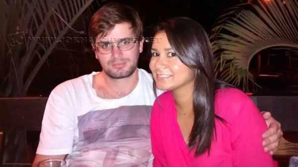 Na foto postada nas redes sociais, Fernando e Laila Hebling. O casal havia se casado há pouco tempo. (Imagem: reprodução/internet)