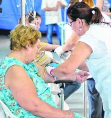 Pacientes são atendidos no Centro de Triagem em RC