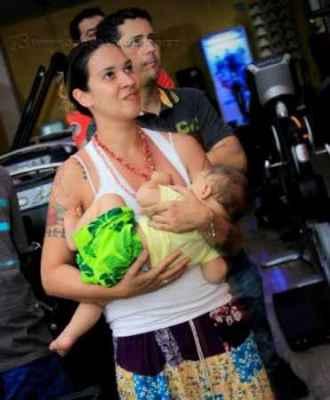 Eugênia tem dois filhos. Valentina de quatro anos e Ulisses, de dois anos e que ainda mama. (Foto: arquivo pessoal)