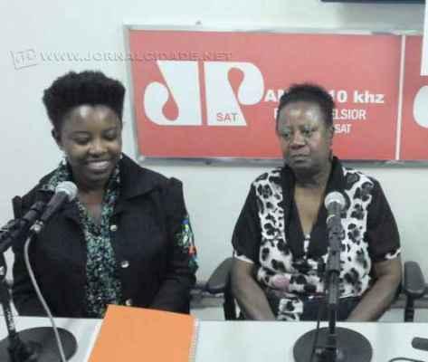 Kizie de Paula (assessora de integração) e Diva de Paula (presidente do Conerc)