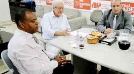 Benedito Fernandes Costa, José Pires Pimentel de Oliveira Neto e Elcio Carrara Boncompagni (da esquerda para a direita)