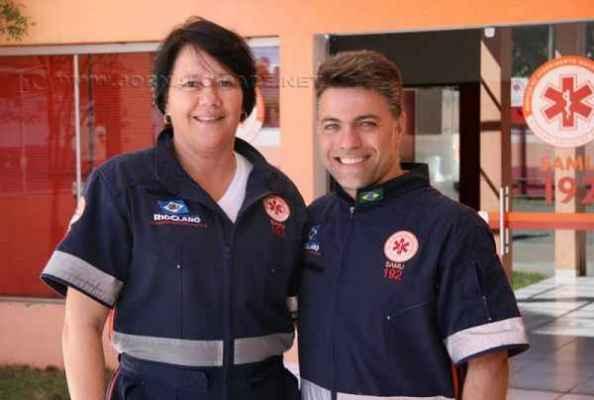 Alcione Buzo, coordenadora do Samu Regional de Rio Claro, e o médico emergencista José Carlos Naitzke Junior