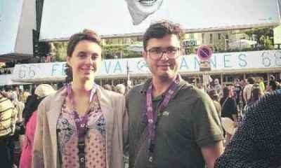 O casal Fernanda Tosini e João Paulo Miranda Maria no Festival de Cannes