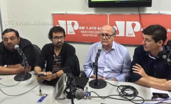 Rogério Marchetti (PSD), Airton Moreira Junior (PSOL), Nevoeiro Junior (DEM) e Paulo Zemuner, de saída do PT
