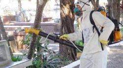 Houve mutirão de limpeza na sexta-feira e sábado passados, inclusive com nebulização de toda a área