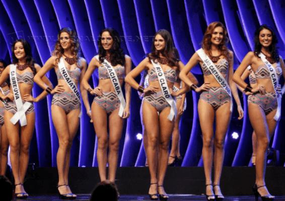 Beatriz Loesch Patrony, com a faixa de Rio Claro, posa ao lado das concorrentes (Foto: Divulgação)