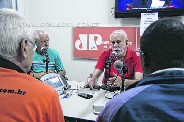 Adalberto Irineu Borges no programa Jornal de Esportes, da rádio Excelsior Jovem Pan