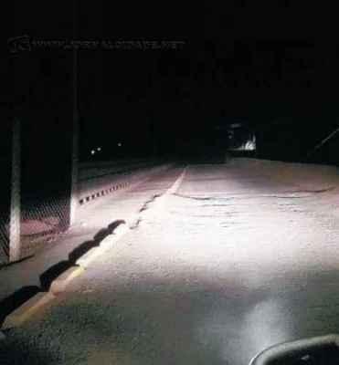 Denúncia recente apontou nove lâmpadas queimadas no viaduto do bairro Terra Nova