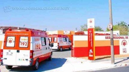 Serviço de Atendimento Móvel de Urgência (SAMU) fez atendimento da ocorrência