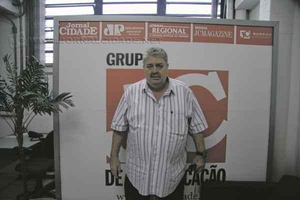Silvinho Star em visita ao Grupo JC de Comunicação no mês de abril