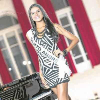 A musa do Rio Claro FC, Stefany Waleska, foi eleita a Miss Simpatia do Miss São Paulo (Foto: Lucas Ismael/Band)