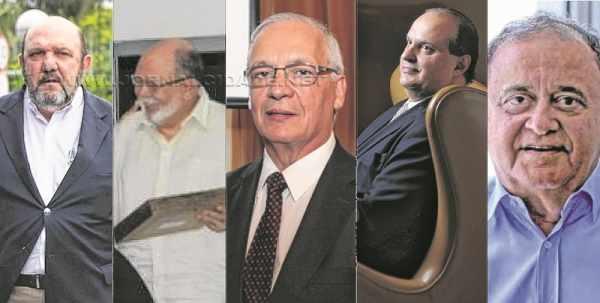 Na montagem, foto de vários empreiteiros presos como Ricardo Pessoa (UTC) e Dalton Avancini (Camargo Corrêa)
