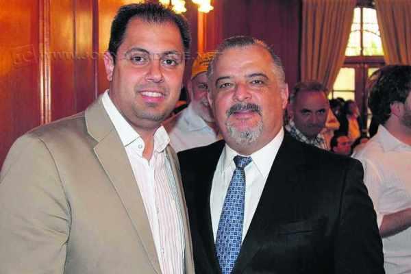 O empresário Renato Di Matteo (PSB) ao lado do vice-governador do Estado de São Paulo, Márcio França (PSB)