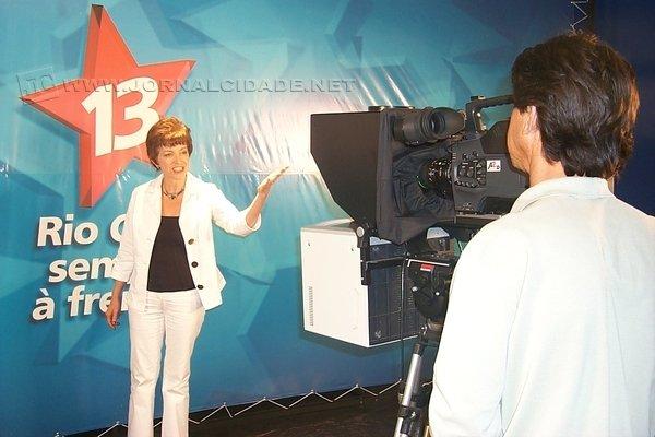 Na foto de arquivo, a candidata a prefeita Raquel Picelli, pelo Partido dos Trabalhadores (PT)