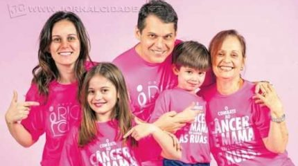 Dr. Mozart Gramiscelli Ferreira e sua família. Evento terá a renda revertida para a Rede Rioclarense de Combate ao Câncer e projetos sociais do Rotary Club (Foto: Diego Ocanhas)