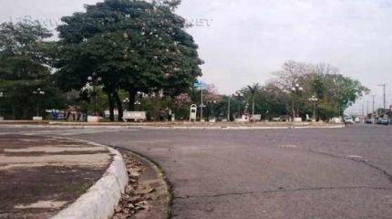 Praça central do município de Ipeúna