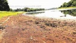 Represa de Cascalho, que abastece o município de Cordeirópolis, opera com apenas 40% da capacidade (foto arquivo)