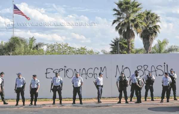 Foto de arquivo de protesto contra o governo americano, acusado de espionagem(Fotos:F. Pozzebom/ Agência Brasil)