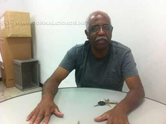 Jovair Augusto durante entrevista ao Jornal Cidade