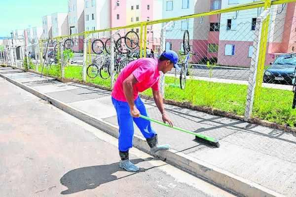 Prefeitura divulgou a construção da obra em meados de fevereiro, como evidencia foto enviada pelo setor de imprensa