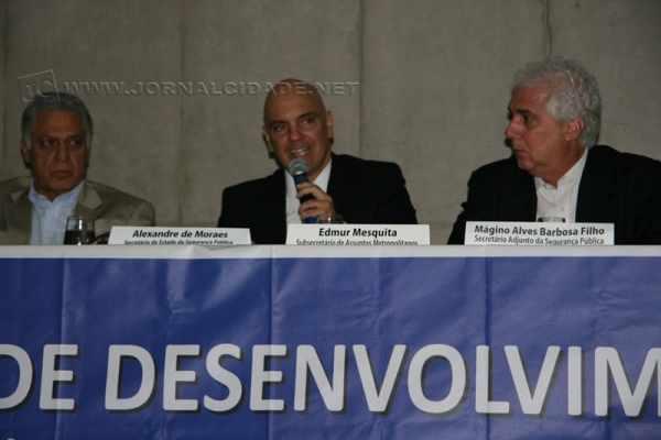 o Secretário Estadual de Segurança Pública, Alexandre de Moraes