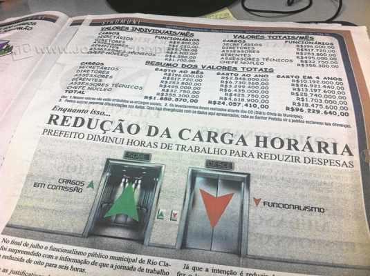 Imagem do Informativo Sindmuni - Ação e Consciência, divulgado no final de semana para servidores em Rio Claro