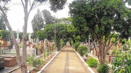 O cemitério é localizado na Rua 16, 101, Consolação